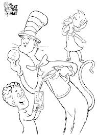 Small Picture Cat In The Hat Coloring Pages Coloring Page Blog