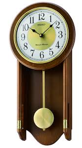 seiko wooden chiming wall clock with