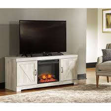 he73 whitewash tv stand with led fireplace