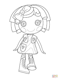 Lalaloopsy Pillow Featherbed Coloring Page Free Printable Coloring