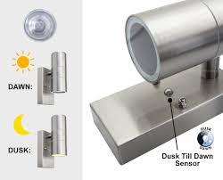 dawn to dusk light. Dusk Till Dawn Sensor Outdoor Up Down Wall Light Stainless Steel Finish ZLC0203D To 0
