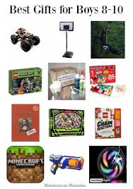 a list of the best gifts for 8 to 10 year old boys