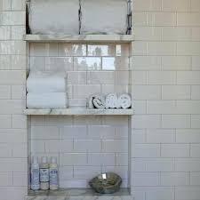 shower niche shelf white ceramic
