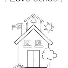 Small Picture Open School House for Second Grade Coloring Page Coloring Sky