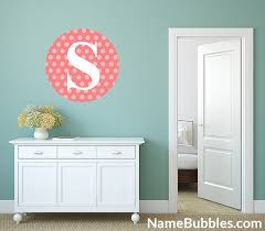Letter Monogram Wall Decals