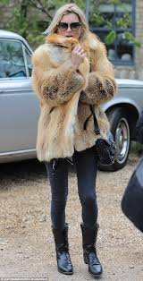 a fur m favourite kate moss headed to a local pub in the cotswolds