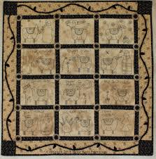 Black Work Sheep Quilt by Robin Vizzone for Briar Root Primitives ... & Black Work Sheep Quilt Adamdwight.com