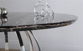 savoy round black marble and chrome dining table with 4 modena black chairs only 549 99 furniture choice