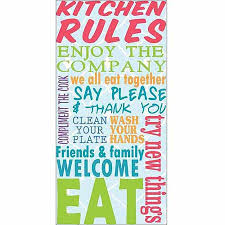 bright kitchen rules collage on pattern kitchen typography blue canvas art by pied piper creative on wall art kitchen rules with buy hayabusa tm quot kitchen rules quot warming kitchen rules home