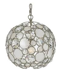 crystorama 527 sa palla 1 light 13 inch antique silver mini chandelier ceiling light