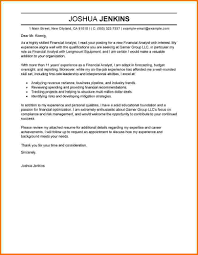 Financial Analyst Cover Letter Financial Analyst Cover Letter