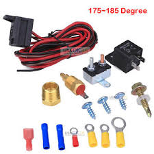 electric fan sensor 175~185 electric engine fan thermostat temperature relay switch sensor kit 3 8