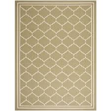 safavieh courtyard green indoor outdoor rug 4 x 5 7 only