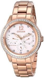 citizen eco drive women s fd2013 50a silhouette crystal analog citizen eco drive women s fd2013 50a silhouette crystal analog display gold watch amazon co uk watches