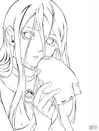 Small Picture Shiro from Deadman Wonderland Manga coloring page Free Printable