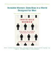 World Designed For Men Download Pdf Invisible Women Data Bias In A World Designed