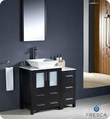 modern bathroom cabinets. Modern Bathroom Vanity Cabinets Espresso W Side Cabinet Vessel Sink .