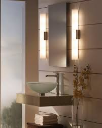 Wall Mirror With Lights Contemporary Wall Light Bathroom Metal Glass