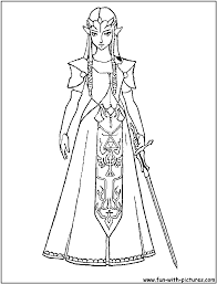 Zelda Master Sword Coloring Pages With Princess 17 And Twilight Link