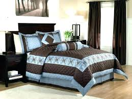 dark brown king size comforter chocolate and blue full sets quilt b
