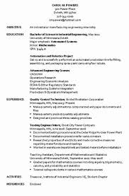 Industrial Engineer Resume 50 Luxury Industrial Engineer Resume Objective Linuxgazette