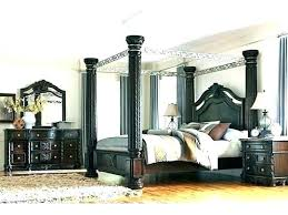 Black Canopy Curtains Black Canopy Bed Queen Black King Size Canopy ...