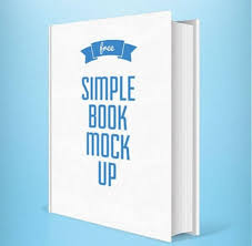 simple book cover mockup psd for free