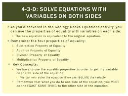 4 3 d solve equations with variables on both sides