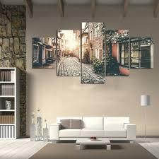 5 Stück Leinwand Malerei Hd Stadtstraße Landschaft Gemälde Drucke