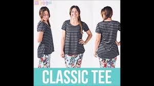 Classic Tee Lularoe Size Chart Classic T Sizing Video With Lularoe Meg Gregory