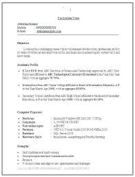 Format My Resume Stunning Perfect Resume Format Pdf Example Resume Format Freshers Perfect