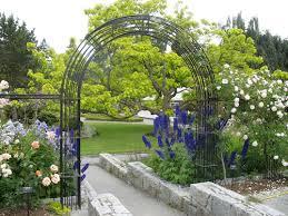 formal rose garden iron trellis
