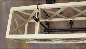 large wooden criss cross rectangular chandelier american or wood rectangular chandelier