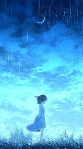 Anime Lonely Night Girl 4K Ultra HD ...