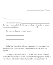 Apartment Day Notice Letter Template Days To Vacate Landlord