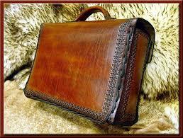 custom made leather briefcase
