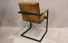 vintage industrial metal office chair metal. Brown Leather And Metal Office Chair Vintage Industrial