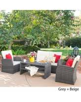 White wicker patio furniture sets at Low Prices