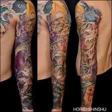 неотрадиционные японские татуировки Horiei Shinshu