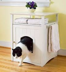 cat litter box cabinet with stainless steel towel bar this might work in my small cat lovers 27 diy solutions