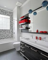 choose an étagère with clean lines and a few deep shelves capable of handling your larger bath towels