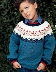 Детский <b>джемпер</b> с лисятами - схема вязания спицами с ...