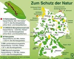Реферат Яркова Дарья Игоревна Сравнительный анализ систем  Карта объктов природоохранных территорий Германии