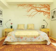 Small Picture Amazing Orange Japanese Tree Garden for Modern Bedroom Wall Paint