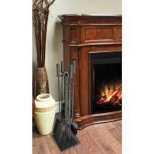 atticus 5 piece fireplace tool set