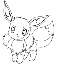Small Picture Cute Eevee Pokemon Coloring Pages Pokemon Coloring Pages