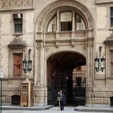 city apartment building entrance. dakota apartment building entrance in new york city i