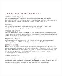 Business Meeting Minutes Template Free Feat Project Meeting Minutes ...
