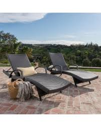 gray patio furniture. Toscana Outdoor Wicker Armed Chaise Lounge Chair (Set Of 2) By Christopher Knight Home Gray Patio Furniture H