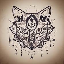 Mandala Cat Tattoo Design Tattoos Diseños Para Tatuajes